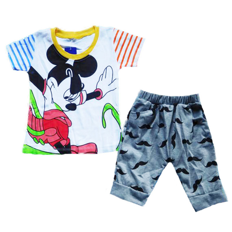 BSH350- Stelan baju dan Celana Motif Mickey (AVAILABLE 3 SIZE)