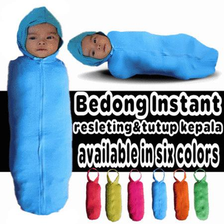 Bedong Instant Resleting Tutup Kepala Available In 6 Color