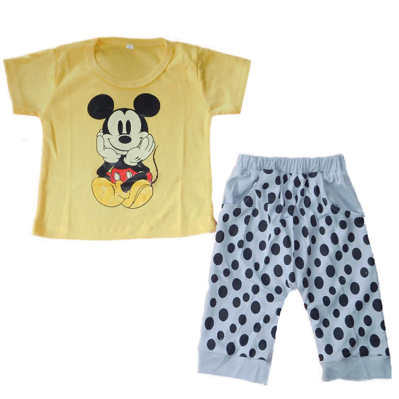 BSH363 - Stelan baju Bayi motif Mickey (AVAILABLE 3 SIZE & COLOR)
