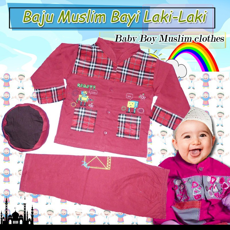 BML549 - Stelan Koko Bayi motif burberry 6-12 bln (AVAILABLE 3 COLOR)