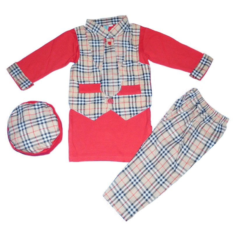 BML567 - stelan koko model rompi motif burbery (AVAILABLE 3 SIZE & 4 COLOR)