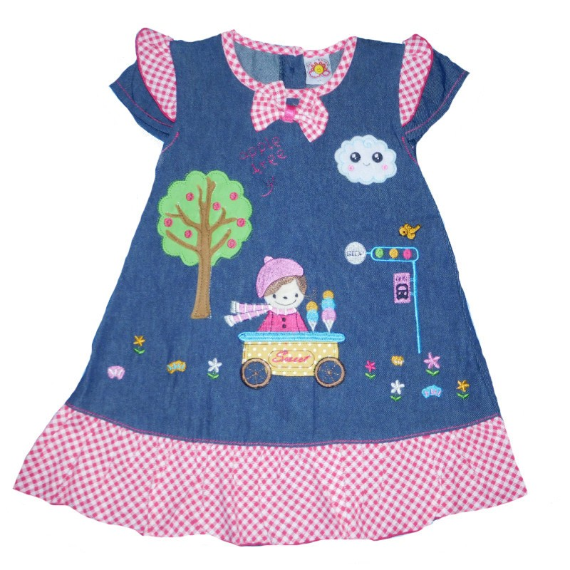 BPD355 - Dress Baby Rok levis motif sweet baby (AVAILABLE 3 COLOR)