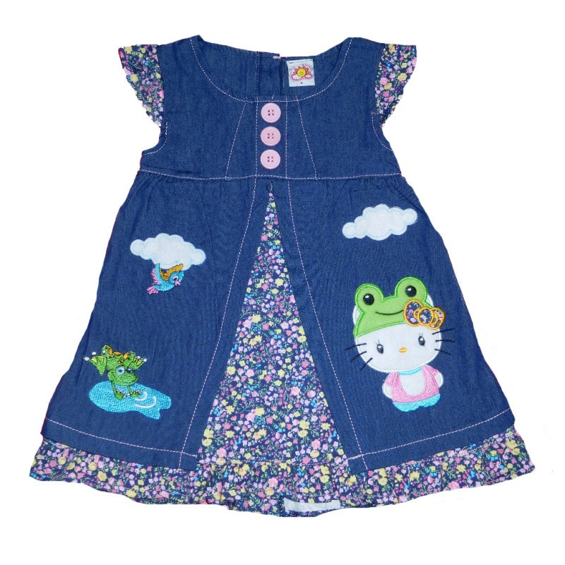 BPD356 - Dress Baby Rok levis motif Hello kitty and friends (AVAILABLE 2 COLOR)