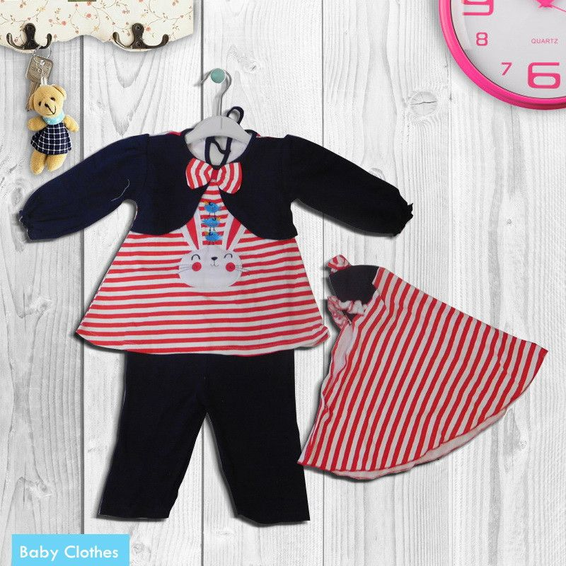 BMP950 - Stelan Muslim Motif Rabbit In Stripe