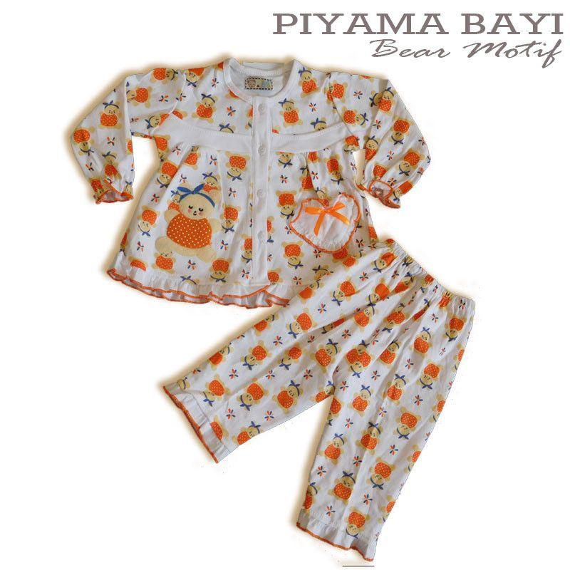 Baju Anak Bayi Baju Tidur Bayi motif Sleppy Bear - PYP459 ...