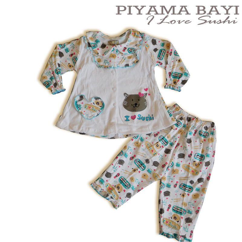 Baju Anak Bayi Baju Tidur Bayi I Love Sushi - PYP460 ...