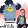 JKT212 - Jaket Bayi tutup kepala Batman (AVAILABLE 3 SIZE & COLOR)