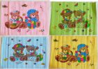 Perlak Bayi Sablon Motif Bear In Colors 56x63 cm