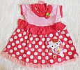 Baju Anak Bayi Dress Motif Polkadot Hello Kitty - BP38